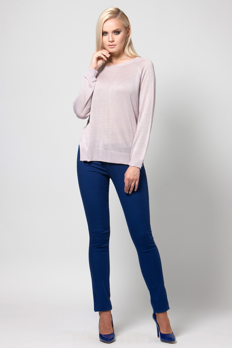 Джемпер женский Conso, цвет: сиреневый. KWJS180740. Размер 48 (50) пуловер conso wear conso wear co050ewbbsv9