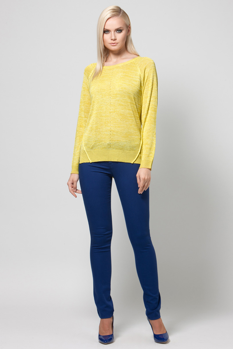 Джемпер женский Conso, цвет: желтый. KWJS180740. Размер 48 (50) пуловер conso wear conso wear co050ewbbsv9