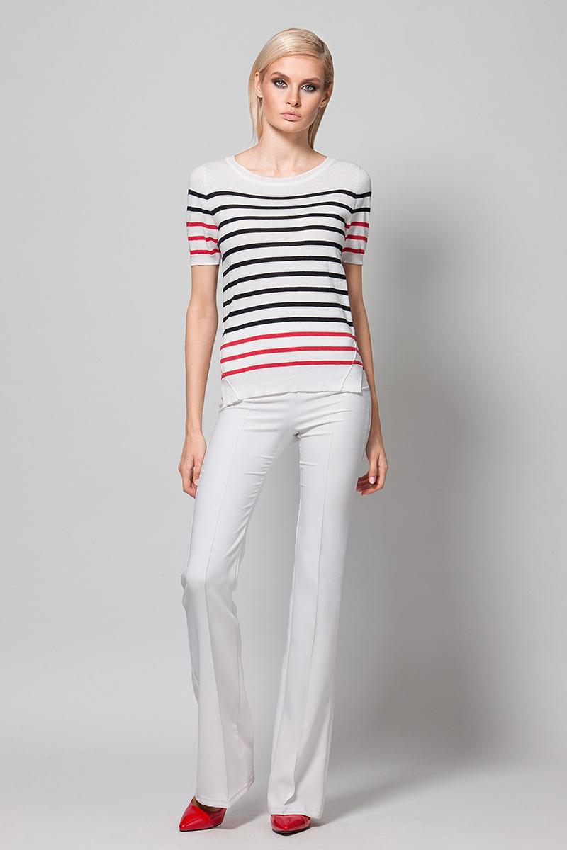 Джемпер женский Conso, цвет: белый. KWJS180752. Размер 48 (50) пуловер conso wear conso wear co050ewbbsv9