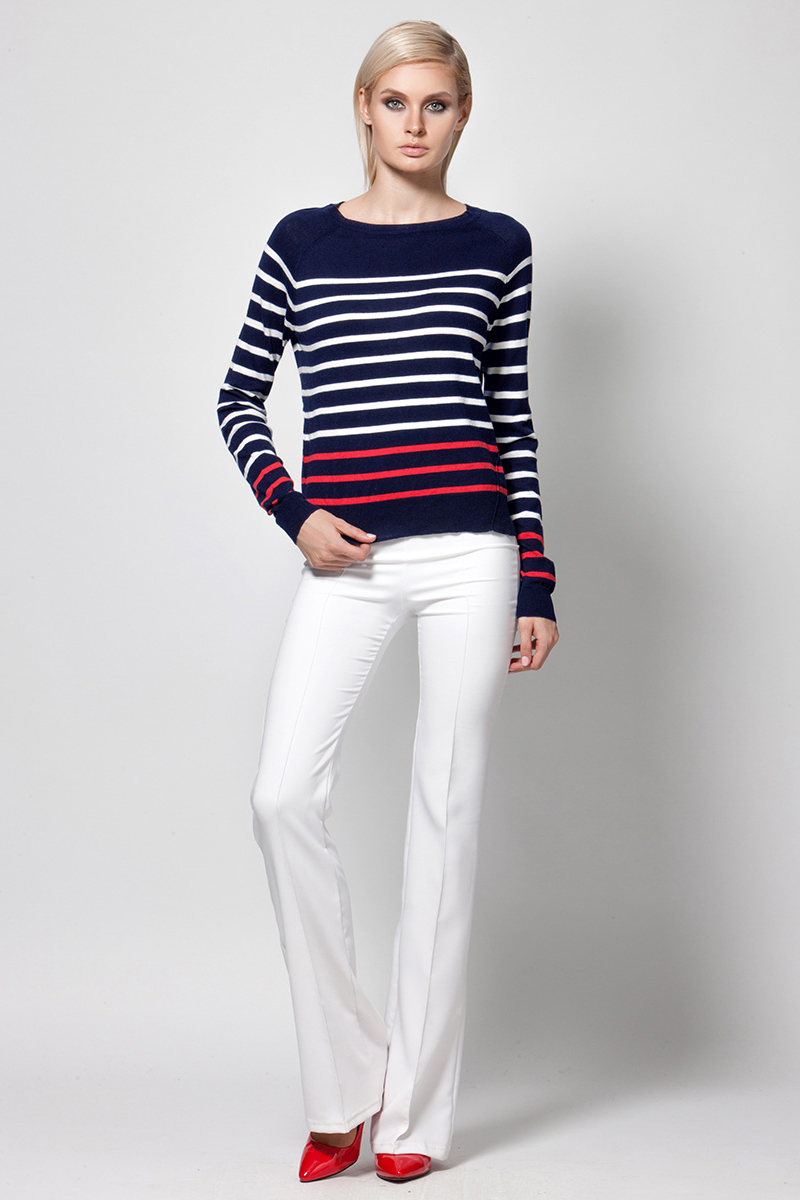 Джемпер женский Conso, цвет: темно-синий. KWJS180753. Размер 48 (50) пуловер conso wear conso wear co050ewbbsv9
