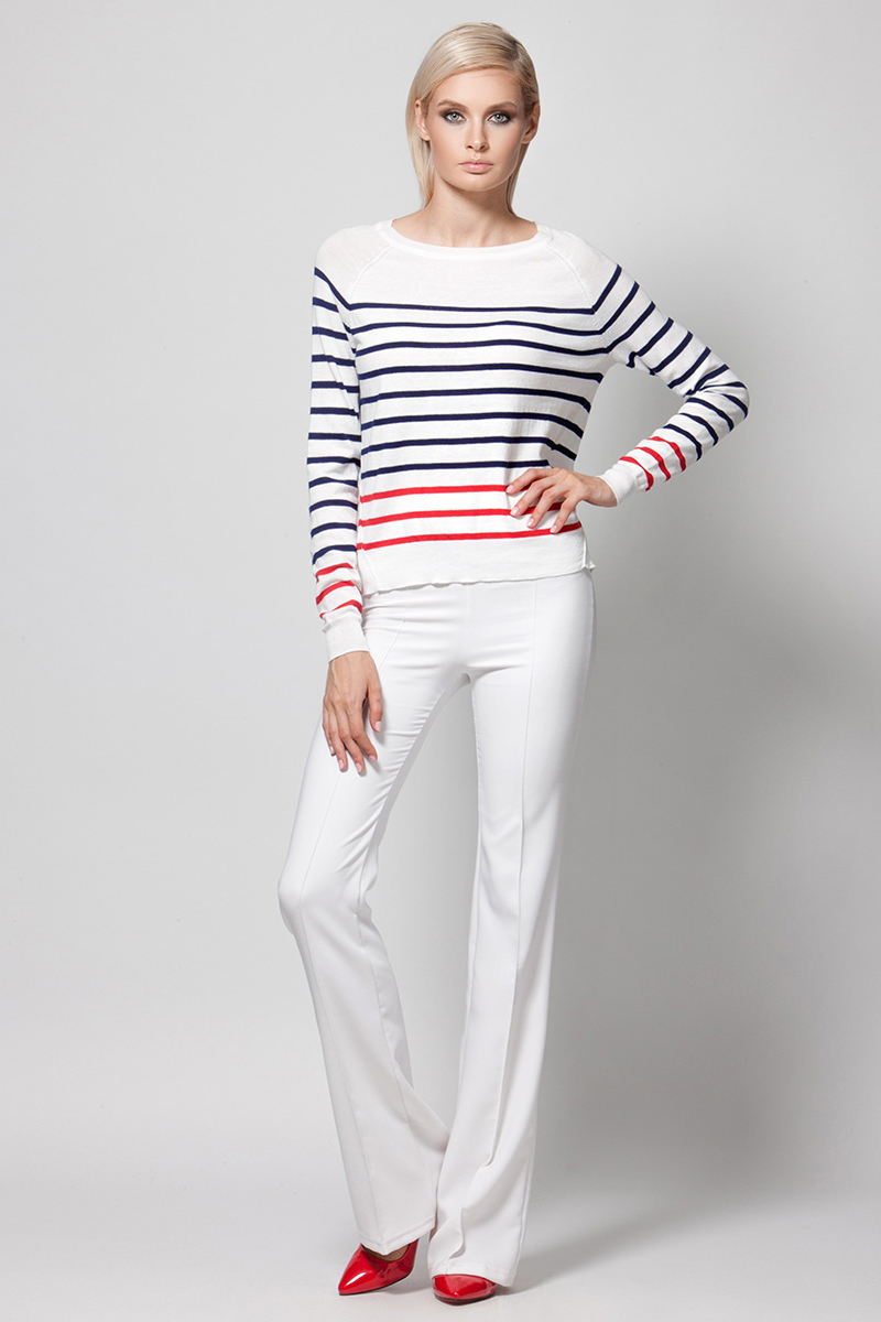 Джемпер женский Conso, цвет: белый. KWJS180753. Размер 48 (50)