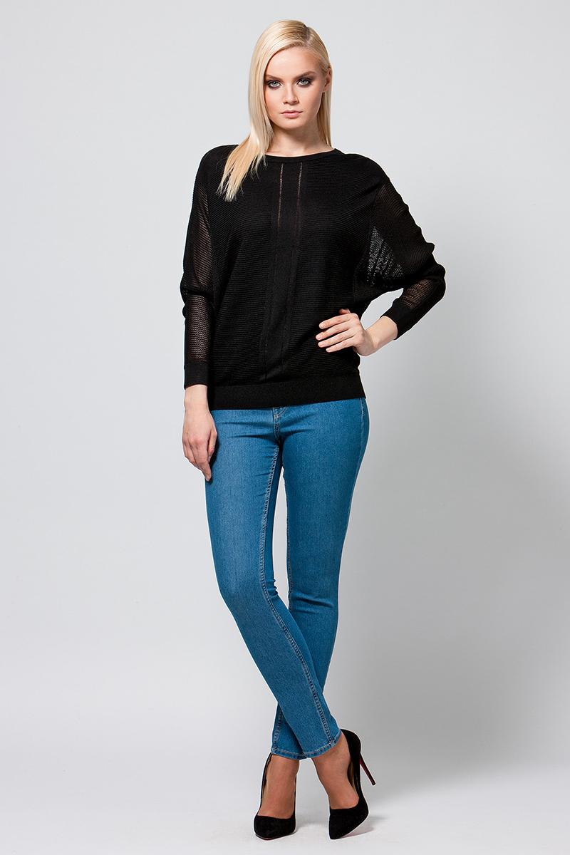 Джемпер женский Conso, цвет: черный. KWJS180759. Размер 46 (48) пуловер conso wear conso wear co050ewbbsv9