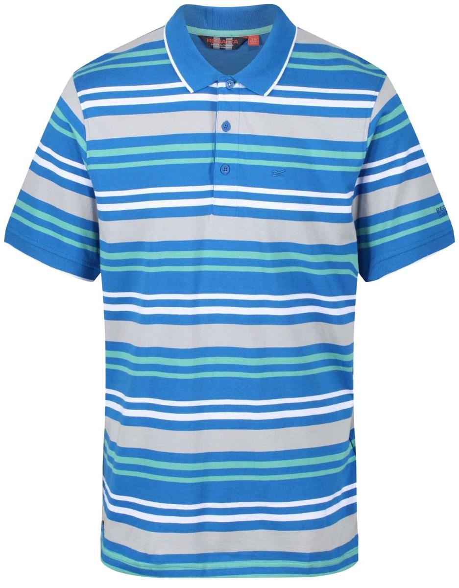 Поло мужское Regatta Pieran, цвет: синий. RMT157-15. Размер XXL (58/60) regatta воротник