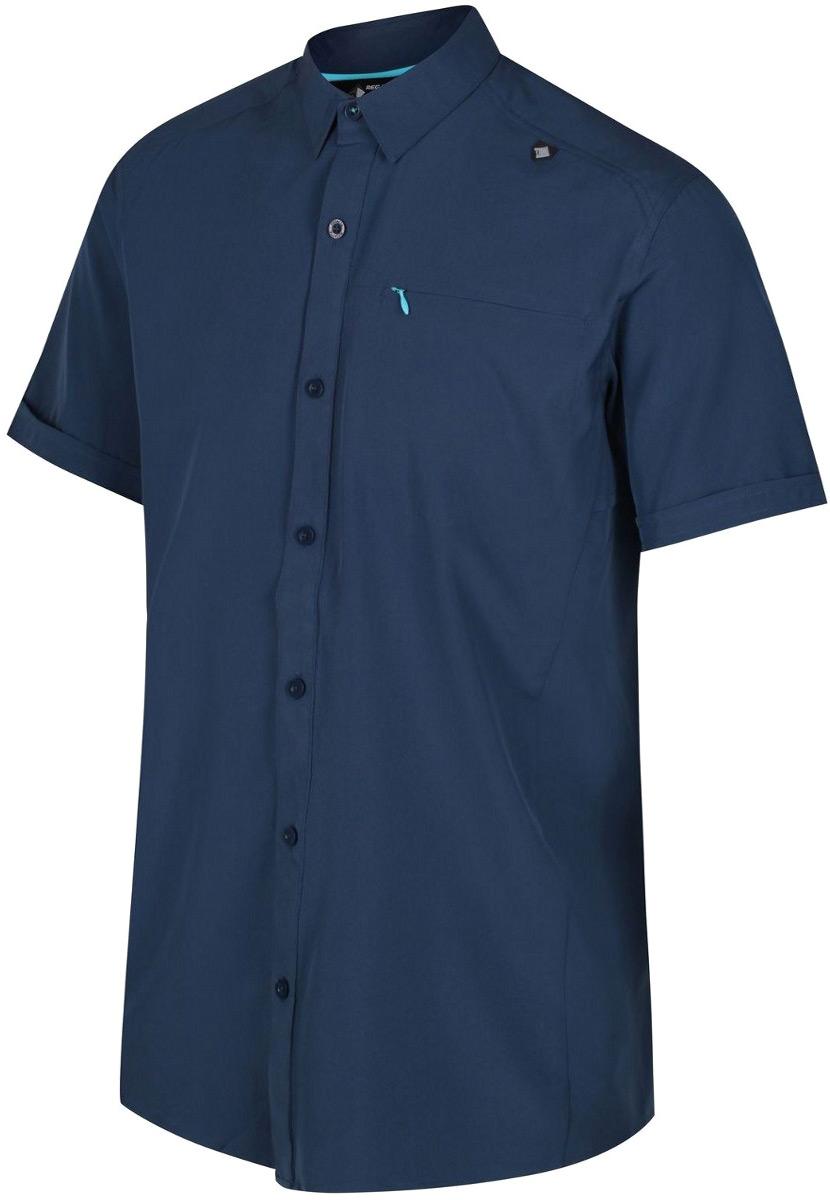 Рубашка мужская Regatta Kioga, цвет: синий. RMS096-8PQ. Размер XL (56)