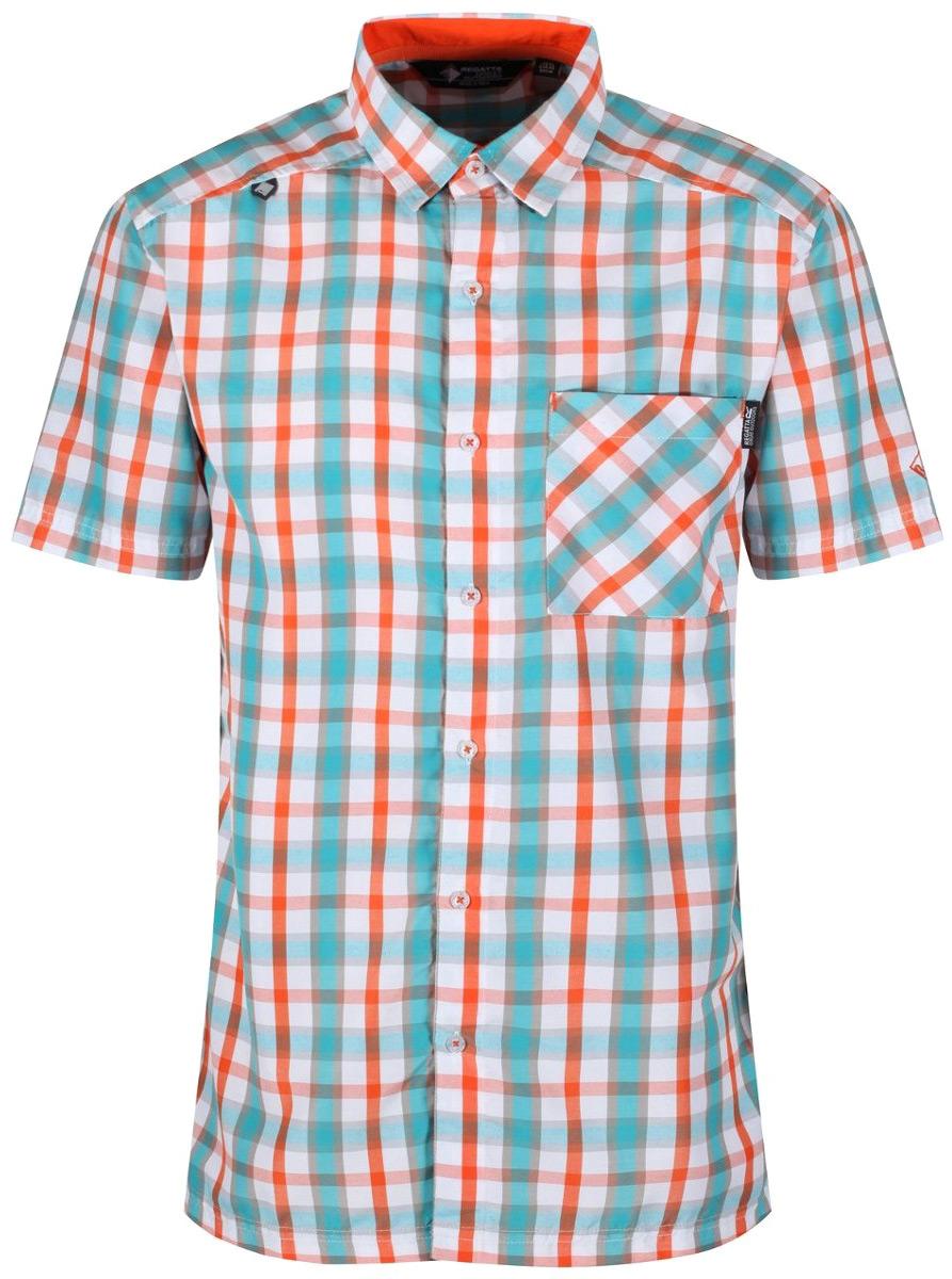 Рубашка мужская Regatta Mindano III, цвет: оранжевый. RMS112-3N9. Размер XL (56)