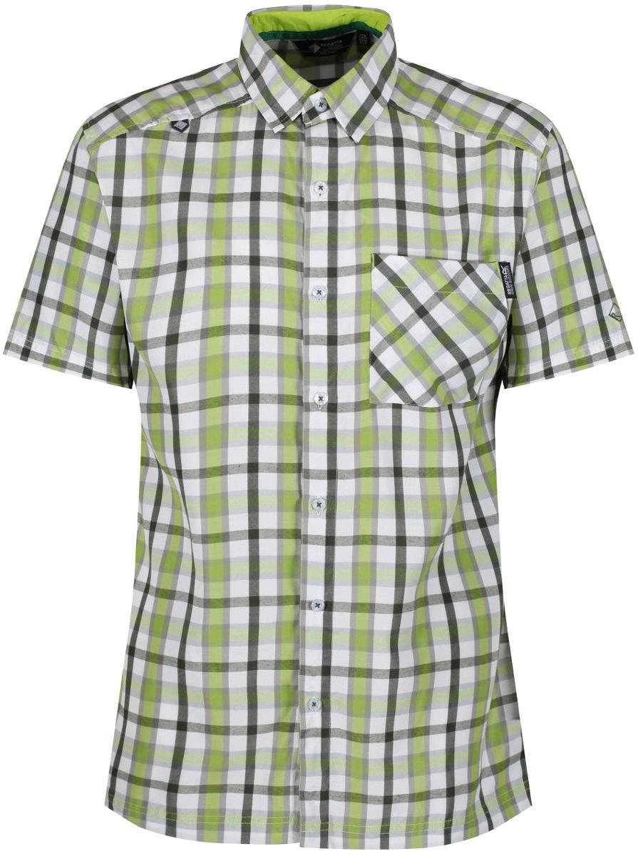 Рубашка мужская Regatta Mindano III, цвет: светло-зеленый. RMS112-7FJ. Размер XL (56)