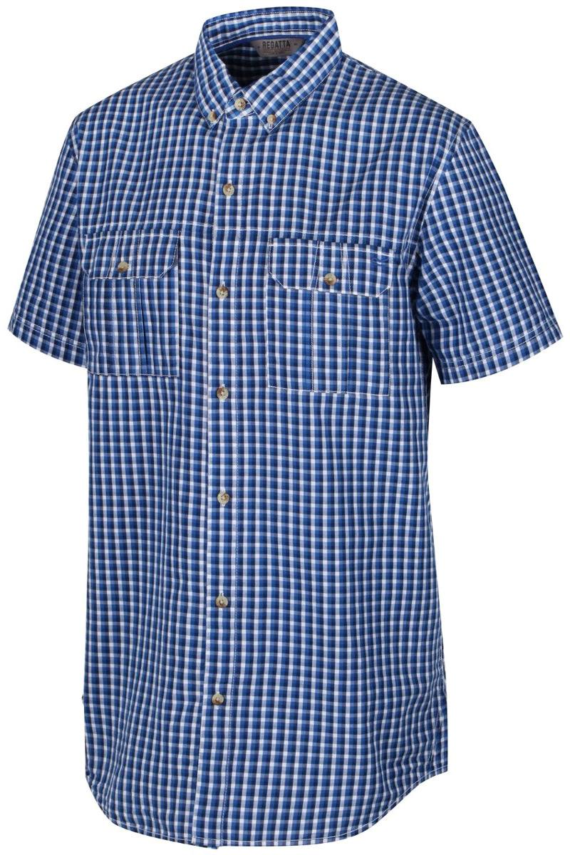 Рубашка мужская Regatta Rainor, цвет: синий. RMS104-15. Размер XXL (58/60)