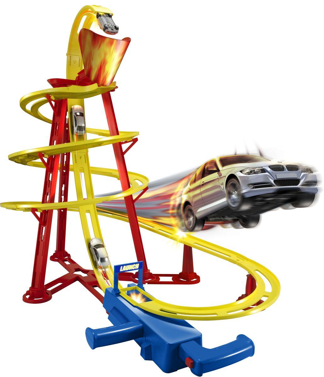HTI Игрушечный трек Вулкан машинки hti паровозик roadsterz синий с вагоном звуковыми и световыми эффектами