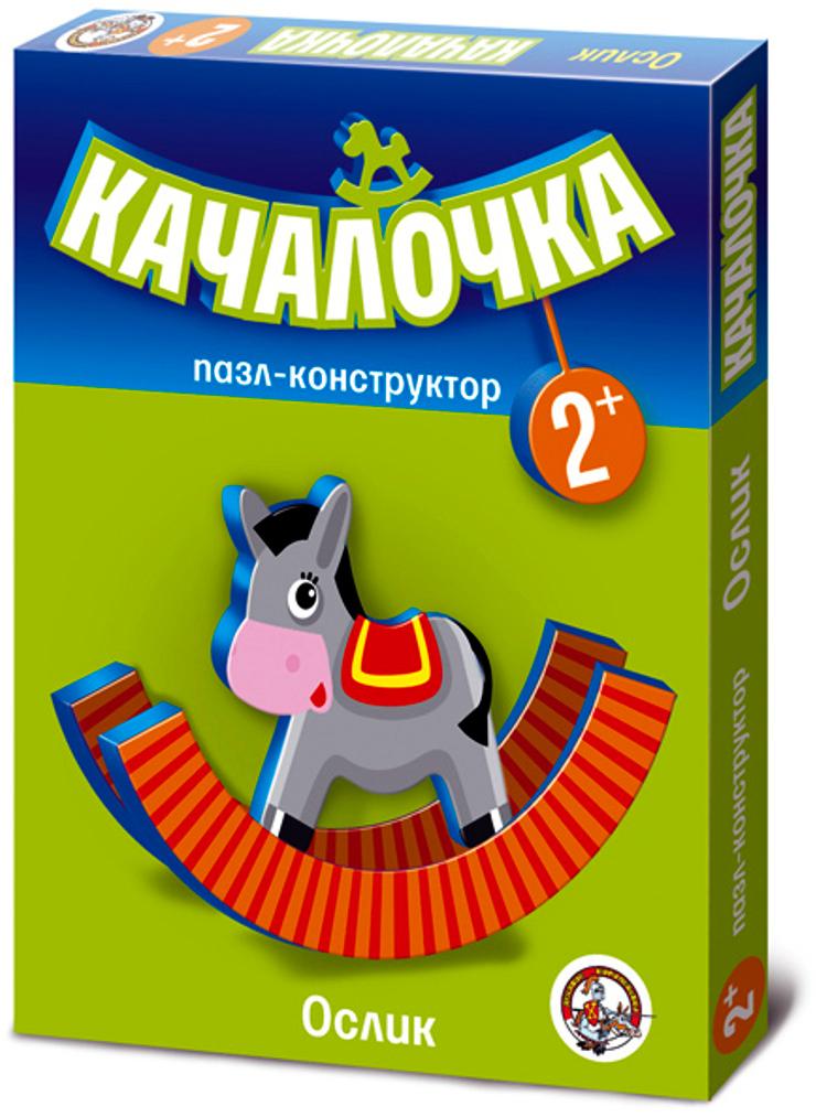 Десятое Королевство Пазл для малышей Качалочка Ослик флексика пазл для малышей геометрия цвет основы красный