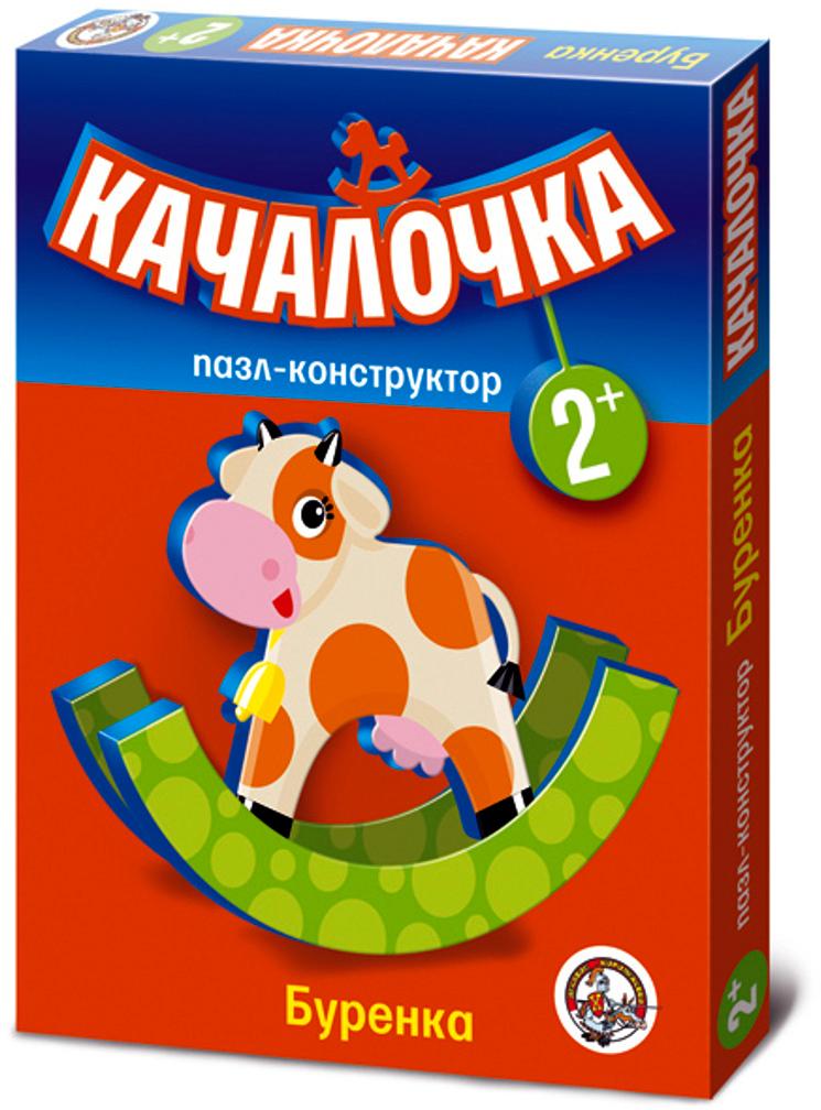 Десятое Королевство Пазл для малышей Качалочка Буренка флексика пазл для малышей геометрия цвет основы красный