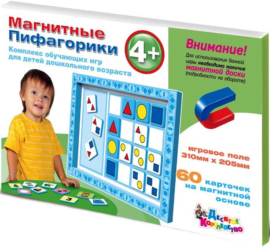 Десятое Королевство Обучающая игра Магнитные Пифагорики 4+ корвет обучающая игра удивляйка 1