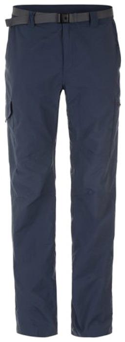 Брюки мужские Columbia Silver Ridge Cargo Pant, цвет: синий. 1441681-469. Размер 30-32 (46-32)1441681-469Мужские брюки Columbia, выполненные из быстросохнущего нейлона, станут оптимальным выбором для походов и активного отдыха на природе. Технология Omni-Shade UPF 50 гарантирует высокий уровень защиты от UV-излучения. Ткань, выполненная по технологии Omni-Wick, эффективно отводит влагу от кожи. Легкий материал обеспечивает превосходный воздухообмен. Модель прямого кроя дополнена внешним регулируемым поясом. На брюках предусмотрено 6 функциональных карманов.