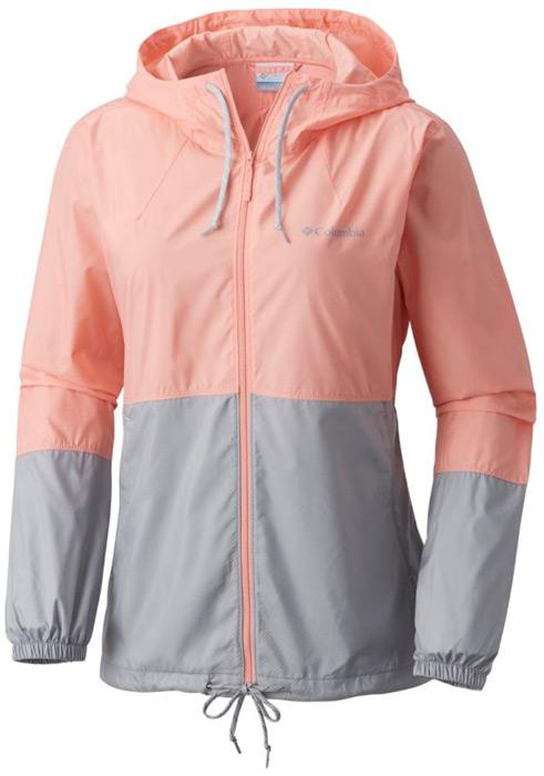 Ветровка женская Columbia Flash Forward Windbreaker, цвет: розовый, серый. 1585911-818. Размер L (48)
