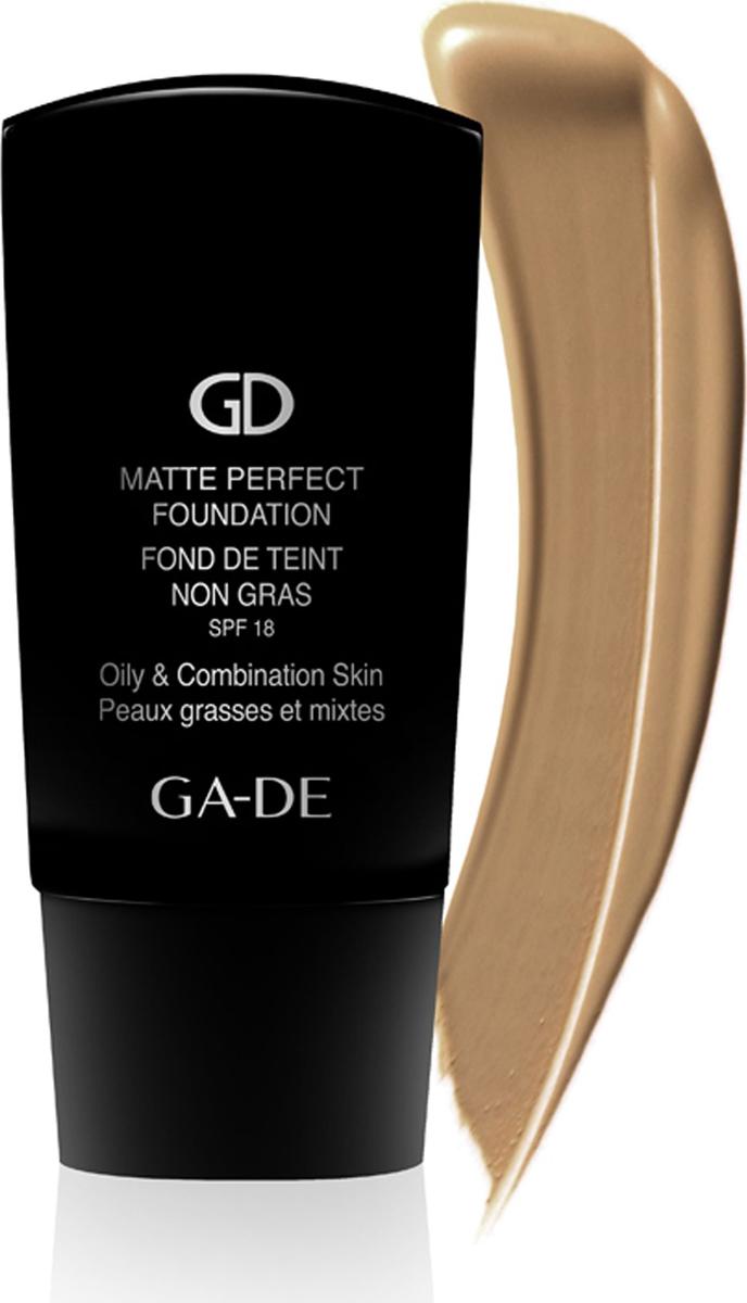 GA-DE Матирующий тональный крем Matte Perfect № 105, 30 мл113700105Тональный крем легкой бархатистой текстуры для жирной и комбинированной кожи. Крем прекрасно ложится на кожу, придавая ей ровный тон, гладкость и матовость. Выравнивает цвет лица, обеспечивает коже необходимую защиту от солнечных лучей и идеальный внешний вид на протяжении всего дня. Тональный крем содержит салициловую кислоту, которая способствует очищению кожи, регулирует себовыделение и производит легкий отшелушивающий эффект. Эфиры крахмала обладают действием, суживающим поры, способствуя матовости кожи. Разработанный на основе новейшей технологии тональный крем ложится на кожу тонким гладким слоем, устраняя нежелательный блеск и придавая коже естественный, ровный тон.