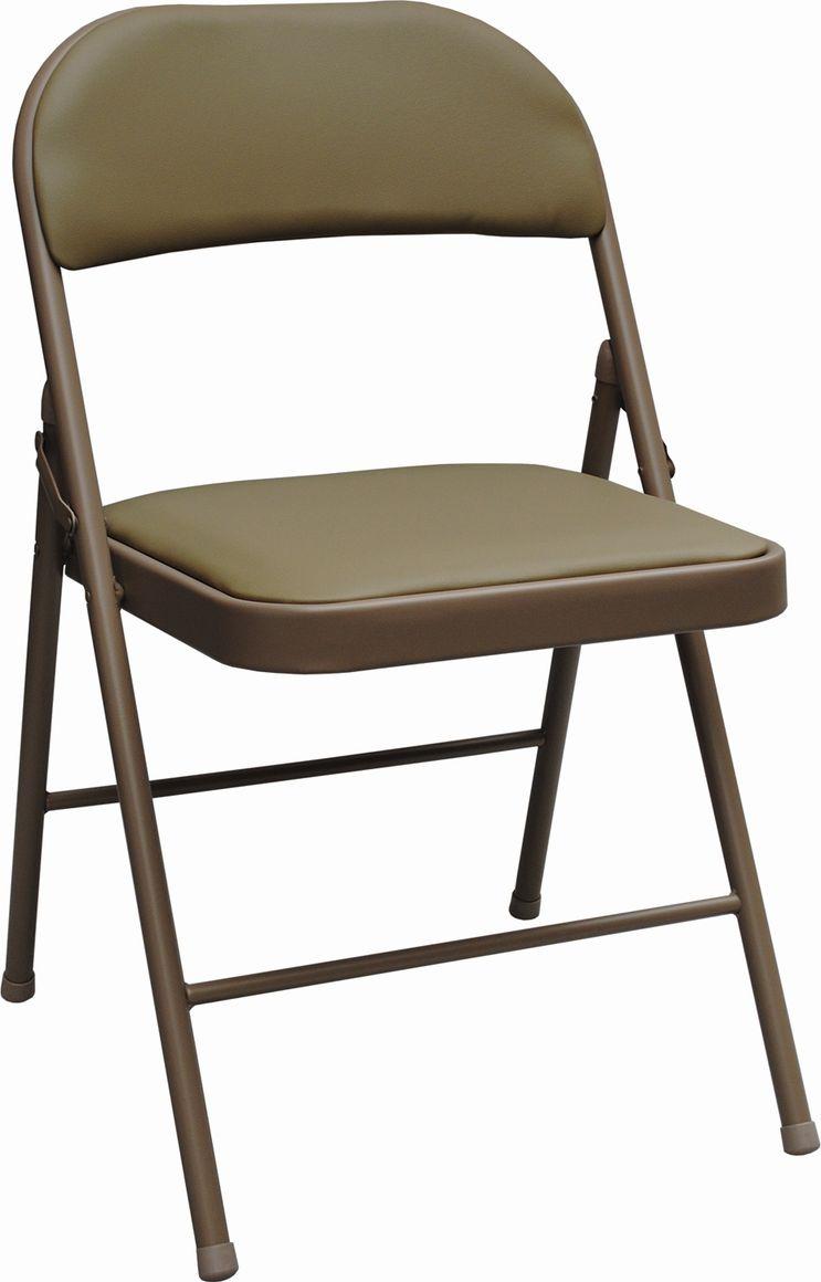 Компактный и удобный складной стул с обширной областью применения. Спинка и сиденье обиты кожзамом, в набивке использован плотный поролон. Прочная рама обеспечит долговечность эксплуатации, а пластиковые насадки на ножках не будут царапать пол.