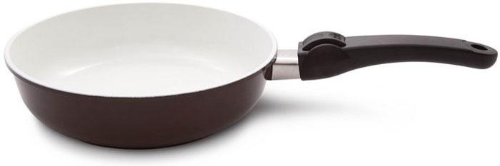 Сковорода SKK CeraPro, со съемной ручкой, диаметр 24 см, высота стенок 6,5 см skk сковорода cerapro 24 см со съемной ручкой 064244 skk