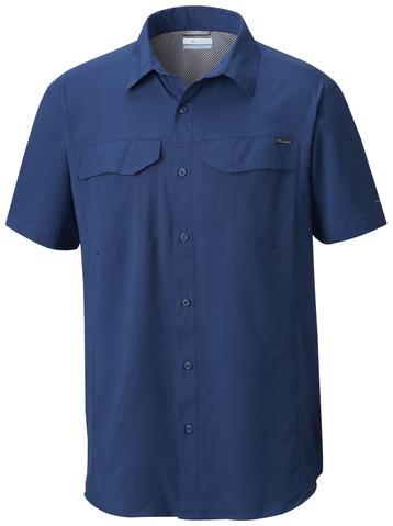Рубашка мужская Columbia Silver Ridge Lite SS Shirt, цвет: синий. 1654311-469. Размер L (48/50)1654311-469Мужская рубашка с коротким рукавом для активного отдыха и туризма выполнена из высококачественного нейлона с применением антимикробной пропитки. В конструкции предусмотрена дополнительная вентиляция.