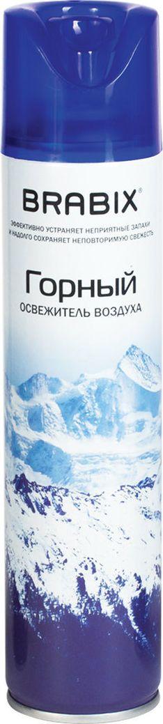 Освежитель воздуха Brabix, горный, аэрозоль, 300 мл601904Легко устраняет неприятные запахи, надолго наполняя воздух неповторимым ароматом. Клапан распылителя с очень мягким нажатием удобен в применении.