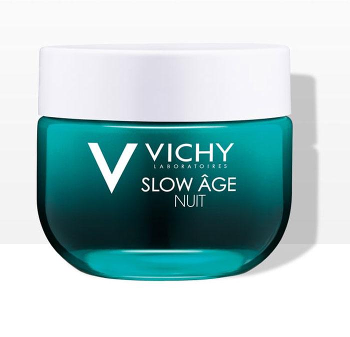 Vichy Slow Age Восстанавливающий ночной крем и маска для интенсивной оксигенации кожи, 50 мл vichy крем и маска ночной для интенсивной оксигенации кожи слоу аж 50 мл