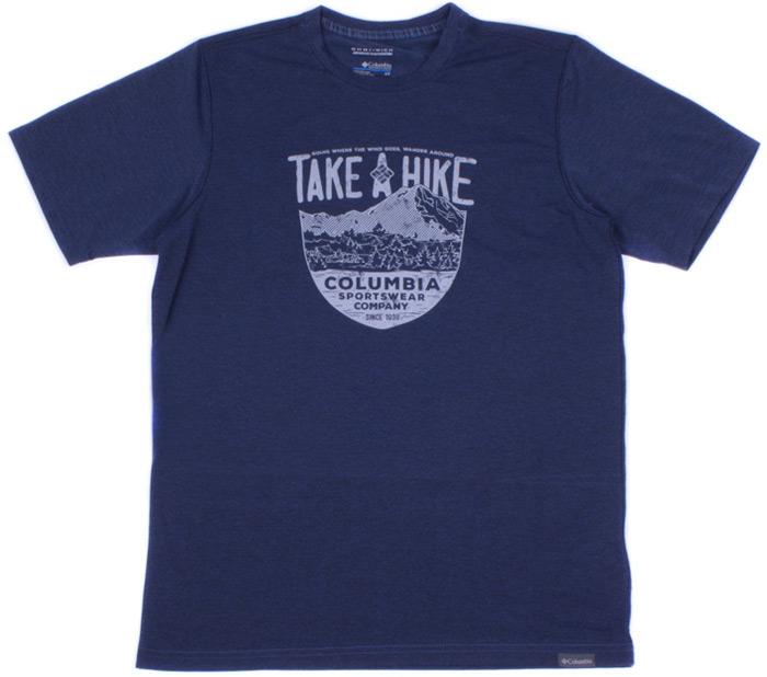 Футболка мужская Columbia Trail Shaker II SS Shirt, цвет: синий. 1778822-469. Размер XXL (56/58) columbia кроссовки женские columbia mojave trail ii outdry