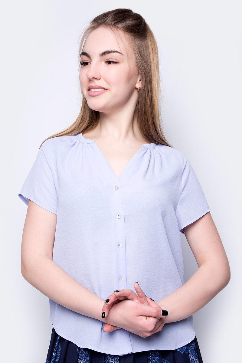 Блузка женская Sela, цвет: темно-лавандовый. Bs-112/252-8263. Размер 50 блузка женская sela цвет ярко лавандовый bs 112 353 8293 размер 50