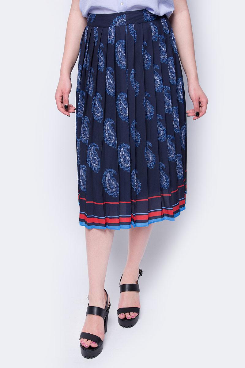 Юбка Sela, цвет: темно-синий. SK-118/157-8132. Размер 48 цена 2017