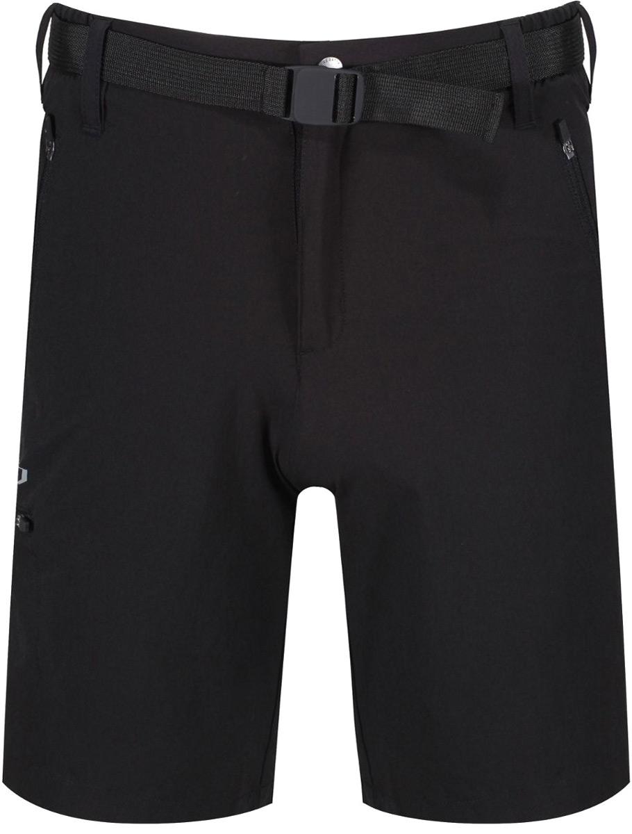 Шорты мужские Regatta Xert Str Short II, цвет: черный. RMJ179-800. Размер 34 (50)RMJ179-800Шорты от Regatta выполнены высокоэластичной ткани Isoflex. Эластичность в четырех направлениях для улучшенной подвижности и комфорта. Износостойкое водоотталкивающее покрытие. Быстрое высыхание для повышенного комфорта. Легкий вес изделия - для активной деятельности. Точная подгонка по фигуре, точные характеристики изделия. Пояс особой формы, частично изготовленный из эластичного материала. С множеством карманов - передние и задние карманы на молниях. Специально разработанный интеллектуальный и эргономичный покрой.
