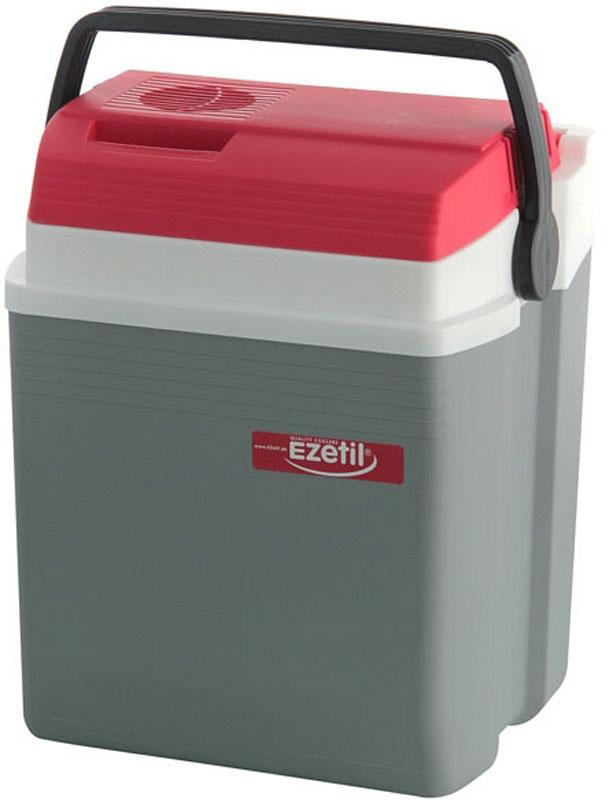 """Термоэлектрический контейнер охлаждения """"Ezetil"""" предназначен для перевозки и хранении продуктов питания, овощей, фруктов и напитков в температурном диапазоне от  +3  до +13 градусов по Цельсию. Контейнер выполнен из высококачественного пластика, корпус гладкий, эргономичного дизайна. Крышка плотно и герметично закрывается. Специальная уплотнительная резина в крышке уменьшает образование конденсата в холодильной камере.  Контейнер работает от бортовой сети автомобиля 12 вольт или домашней сети переменного тока 230 Вольт. Потребляемая мощность: 50 Ватт.  Для повышения дополнительного охлаждающего действия термоэлектрического контейнера (холодильника), а также когда он не подключен к сети (например, на даче, на пикнике) внутрь авто-холодильника можно поместить аккумуляторы холода (в комплект не входят).  Такой Термоэлектрический контейнер можно взять с собой куда угодно: на отдых, пикник, кемпинг, на дачу, на рыбалку или охоту и т.д. Идеальный вариант для отдыха всей семьей."""