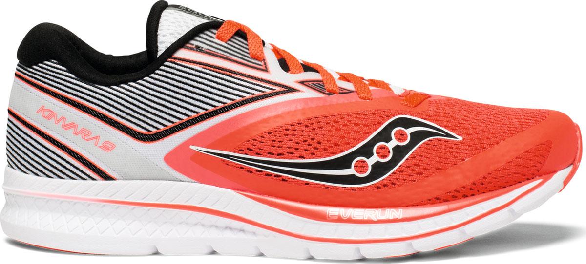 Кроссовки женские Saucony Kinvara 9, цвет: белый, красный, серый. S10418-2. Размер 6,5 (36)S10418-2Стильные кроссовки Saucony созданы для тех, кто предпочитает оригинальный дизайн и непревзойденное качество. Модель выполнена из текстиля и оформлена принтом. Классическая шнуровка надежно фиксирует обувь на ноге. Стелька и подкладка из мягкого текстиля комфортны при ходьбе. Подошва исполнена из износостойкой резины. Рифление на подошве обеспечивает идеальное сцепление с любыми поверхностями. Эффектные кроссовки помогут вам создать яркий, динамичный образ.