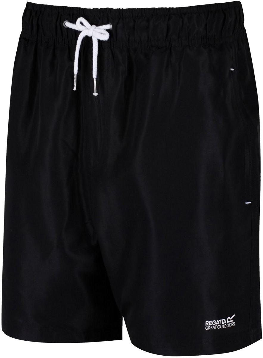 Шорты мужские Regatta Mawson Swim Short, цвет: черный. RMM001-800. Размер L (52/54)RMM001-800Шорты от Regattaвыполнены из 100% полиэстера Taslan. Регулируемая шнурком талия. Два кармана по бокам, один задний карман. Дышащая подкладка из сетки с потайным карманом.