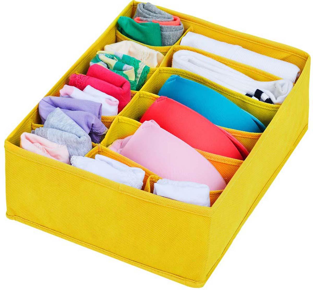 Замечательный органайзер отлично подойдет для хранения комплектов белья - женского, детского.  В нем удобно хранить наборы бюстгальтер+трусики, маечка+трусики.