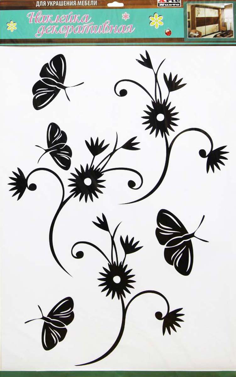 Наклейка декоративная Arte Nuevo Цветок, для мебели, 42 х 70 смDN-KF-3Декоративная наклейка для мебели, пластик, специальный клей, не оставляющий следов