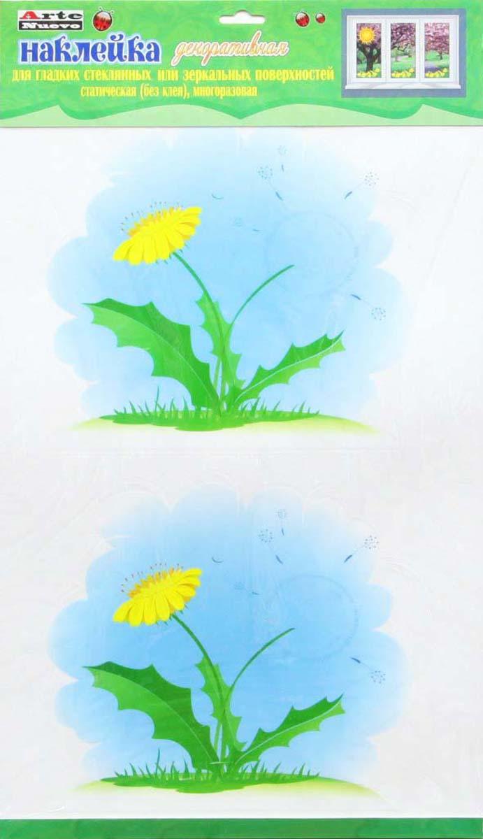Наклейка декоративная Arte Nuevo Весна. Одуванчики, на стекло, двухсторонняя, статическая, 33 х 60 см наклейка