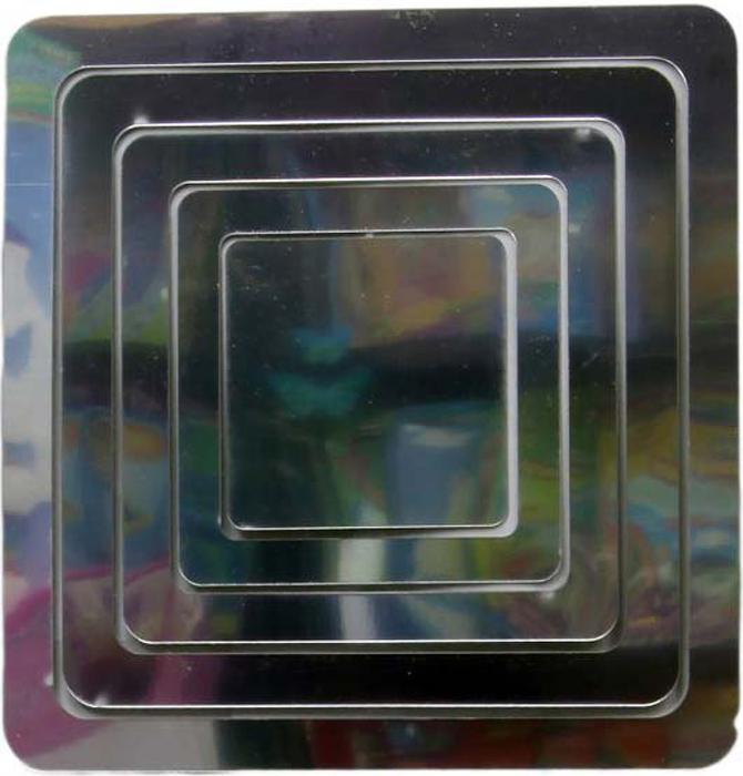 Наклейка-зеркало декоративная Arte Nuevo Квадраты, цвет: черный, 31 х 33,5 смDN-ZST-1003Декоративная наклейка-зеркало