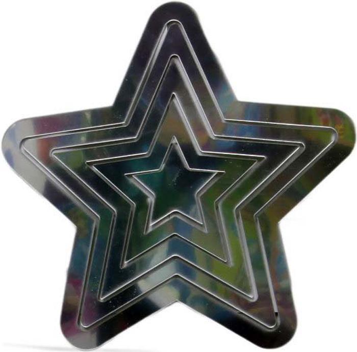 Наклейка-зеркало декоративная Arte Nuevo Звезды, цвет: черный, 31 х 33,5 см наклейка