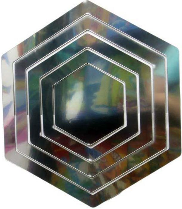 Наклейка-зеркало декоративная Arte Nuevo Шестиугольник, цвет: черный, 31 х 33,5 смDN-ZST-1003Декоративная наклейка-зеркало