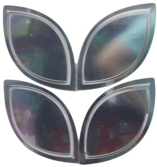 Наклейка-зеркало декоративная Arte Nuevo Листья, цвет: черный, 31 х 33,5 см