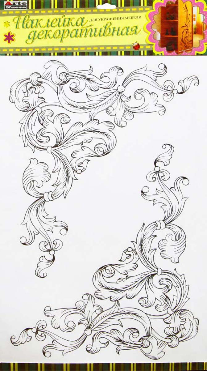 """Наклейка декоративная Arte Nuevo """"Декоративные уголки"""", для мебели, 33 х 60 см"""