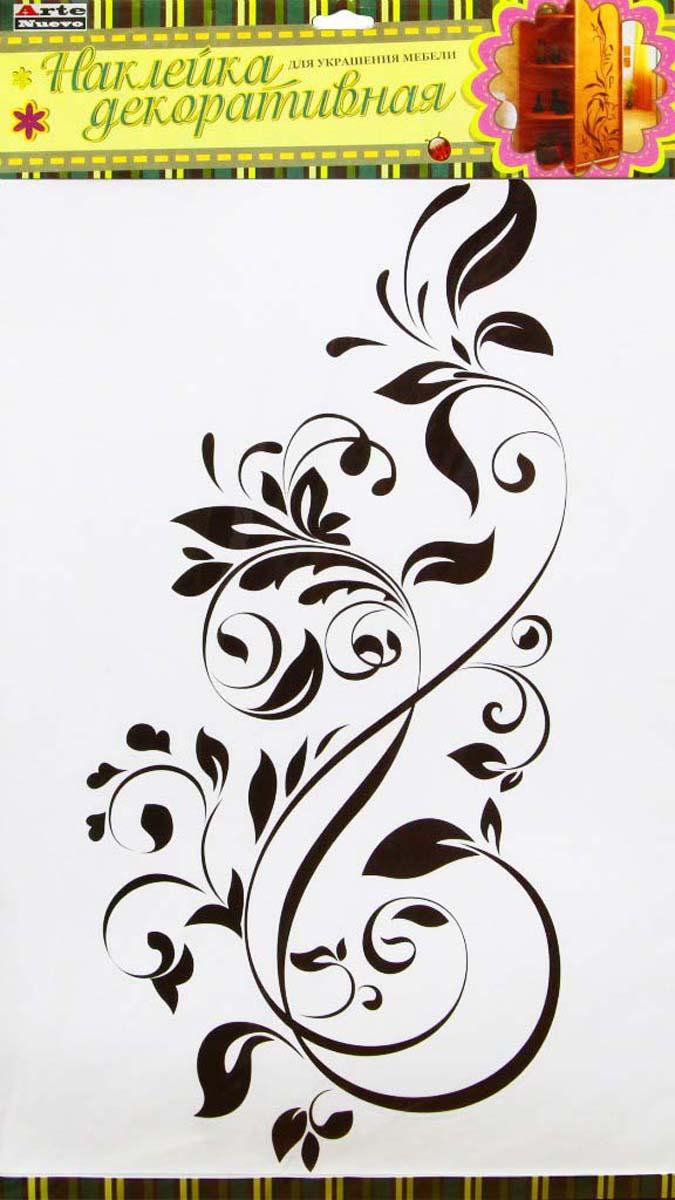 Декоративная наклейка для мебели, пластик, специальный клей, не оставляющий следов