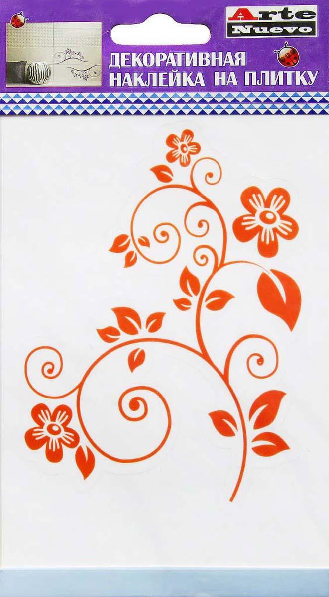Наклейка декоративная Arte Nuevo Оранжевый узор, для плитки, 10 х 15 смDN-TДекоративная наклейка для плитки.