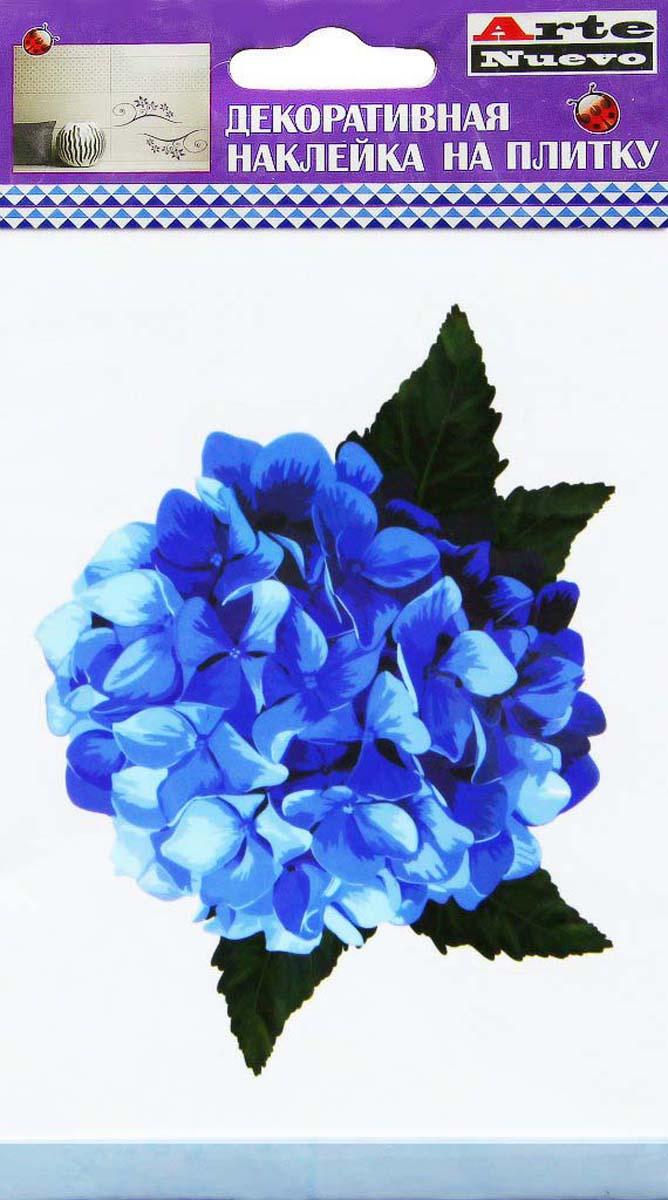 Наклейка декоративная Arte Nuevo Синий букетик, для плитки, 10 х 15 см декоративная виниловая наклейка лабиринт маленький