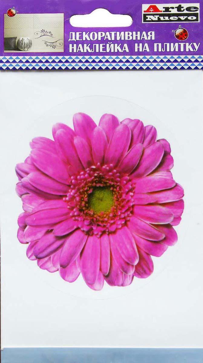 Наклейка декоративная Arte Nuevo Розовый гербер, для плитки, 10 х 15 смDN-TДекоративная наклейка для плитки.
