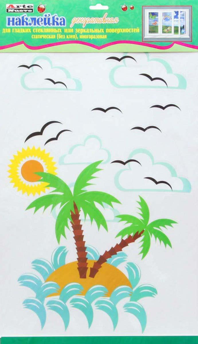 Наклейка декоративная Arte Nuevo Остров, на стекло, двухсторонняя, 33 х 60 см2DN-WM-2SUMНаклейка декоративная на стекло, 2-х сторонняя, статическая. Пластик