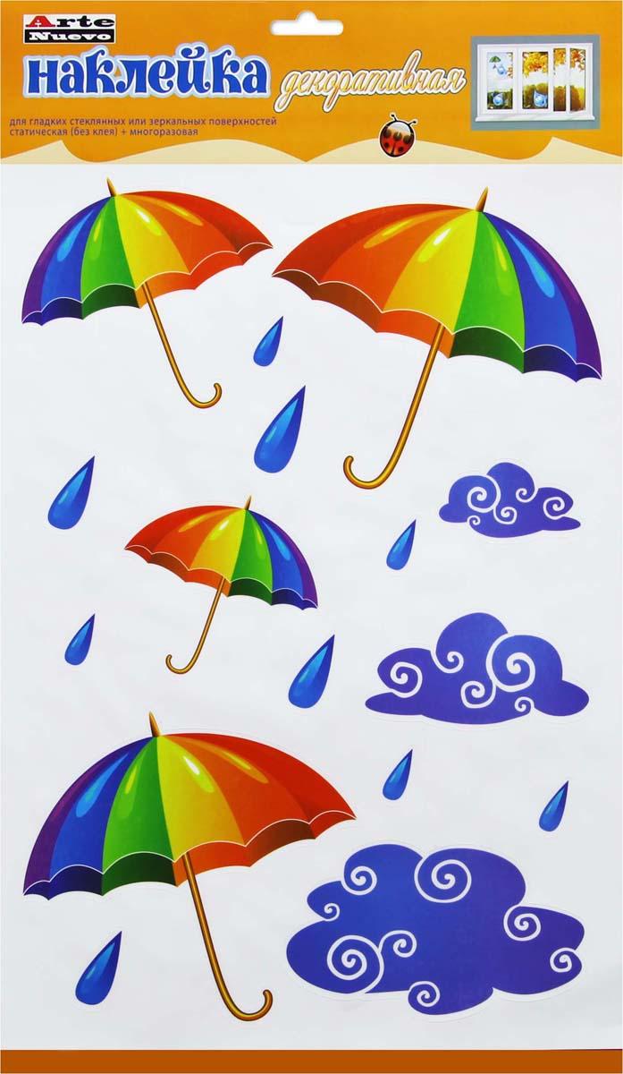 Декоративная наклейка для гладких стеклянных или зеркальных поверхностей, статическая, многоразовая.