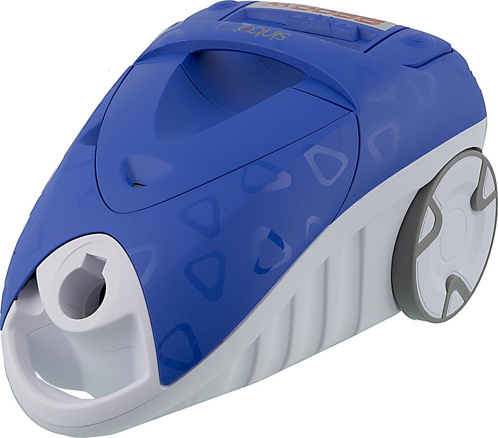 Sinbo SVC 3469, Blue пылесосSVC 3469Пылесос Sinbo SVC 3469 предназначен для сухой уборки в помещениях с различными покрытиями. Прибор обеспечен пылесборником емкостью 2 л, который не потребует частой замены. Регулировать мощность в зависимости от типа уборки вам поможет удобно расположенный на корпусе пылесоса переключатель. Также в данной модели пылесоса для вашего удобства предусмотрена функцияавтоматического сматывания шнура. Нажатием соответствующей клавиши шнур втягивается внутрь корпуса пылесоса, что значительно облегчает сматывание шнура после уборки. Работа с пылесосом особенно удобна благодаря телескопическойтрубке, которую можно легко настроить на нужную длину и зафиксировать в таком положении.