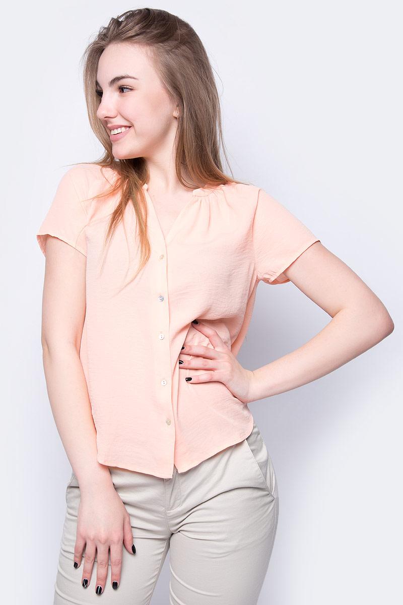 все цены на Блузка женская Sela, цвет: персиковый. Bs-112/252-8263. Размер 50 онлайн