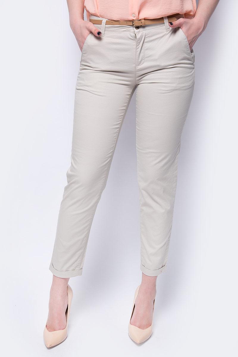 Купить Брюки женские Sela, цвет: светло-песочный. P-115/180-8263. Размер 42