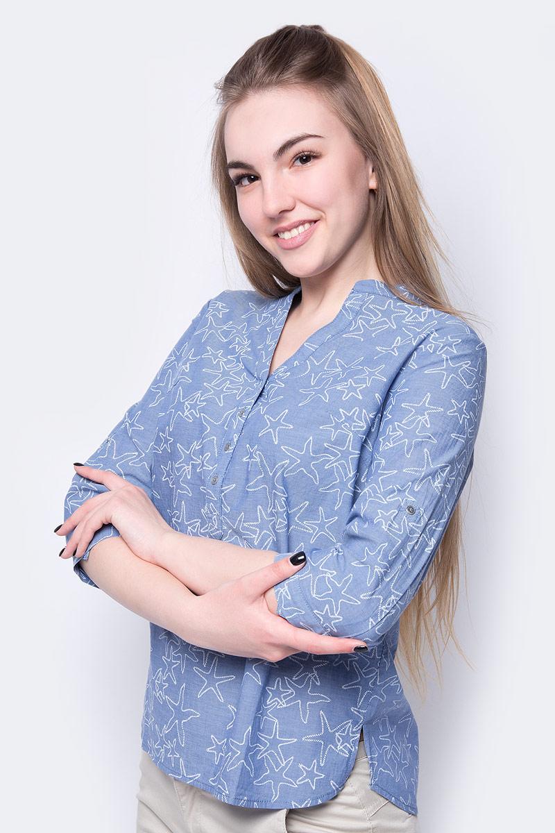 Купить Блузка женская Sela, цвет: яркий синий. B-112/355-8233. Размер 44