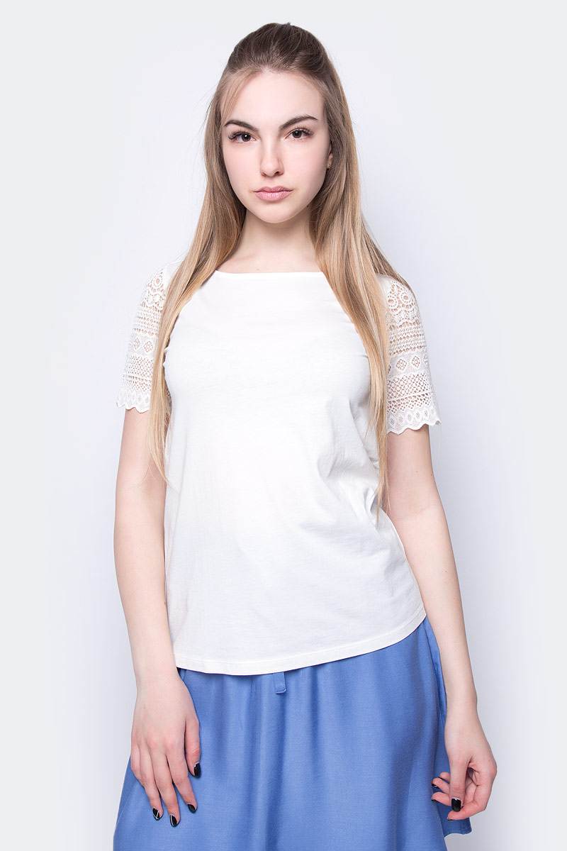 Футболка женская Sela, цвет: молочный. Ts-111/295-8213. Размер L (48)
