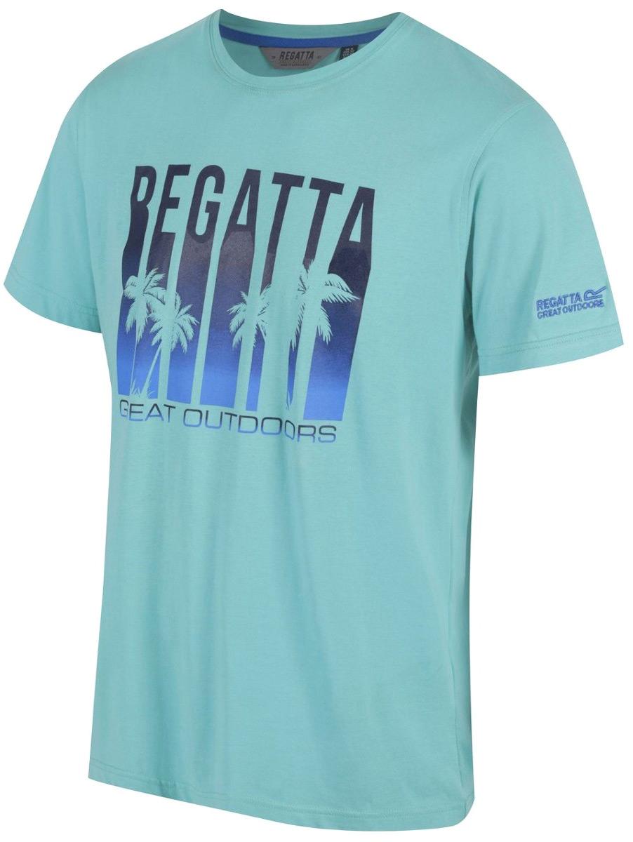 Футболка мужская Regatta Cline II, цвет: бирюзовый. RMT153-7SZ. Размер M (50) футболка regatta футболка cline